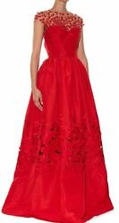 9k Rand03916 Like No Others Fairy Tail Magnificent Oscar De La Renta Red Dress/gown