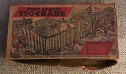 Marx Fort Apache Stockade Playset Box Only Vintage No Number C. 1950's