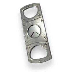 Cigar Cutter Elie Bleu Stainless Steel Gold And Satin Ebc-1 Square Cut