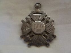 Antique English Sterling Silver Pendant Chester 1900 - B.c.c 1901- By R.bs