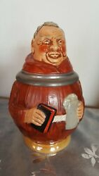 Monk With Bible Figure Beer Drink Stein Made In Germany 4107