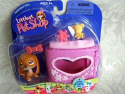 Littlest Pet Shop BEAGLE Dog wHeart Case lot #16 NIB Rare Retired FIRST 80 PETS