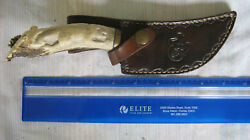 Custom Hand Made Hunting/skinning Scratchy Hand Knife Gorgeous Antler Handle