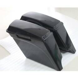 Unpainted 5 Extended Stretched Saddle Bags Fit For Harley Road King Glide 93-13
