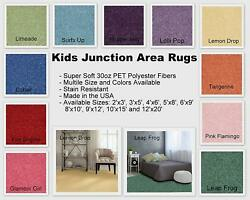 Kids Junction Area Rugs Many Bright Vibrant Colors To Choose From And Many