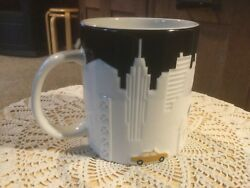 """Pre Owned Starbucks Collectors Relief Mug. New York City. 4"""" H X 3.75"""" D."""