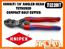 Knipex 7122200t - Coboltandreg - Compact Bolt Cutter 20anddeg Angled Head Tethered 200mm