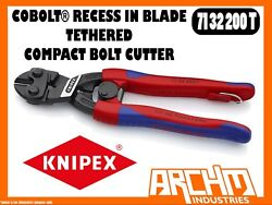 Knipex 7132200t - Cobolt® - Compact Bolt Cutter Recess In Blade Tethered 200mm