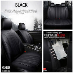 3D Luxury PU Leather Comfortable & Breathable 5-Seat Car Seat Cover Cushion Mat