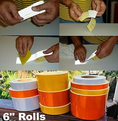 6 Flexible Stretchable High Intensity Reflective Tape - 30and039 And 150and039 Rolls