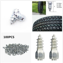 100pcs Steel Body With Carbide Tip 6mmx15mm Car Truck Tire Anti-slip Stud Spikes