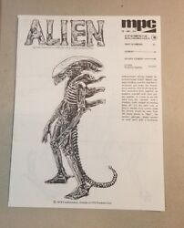 Vintage Instructions For Alien Model By Mpc Toys 1979 77a