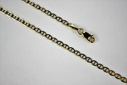 10k Solid Yellow Gold Mariner Link Chain Necklace For Men Women 3mm X 16 30