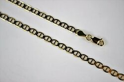 10k Solid Yellow Gold Mariner Link Chain Necklace For Men Women 4mm X 16 30