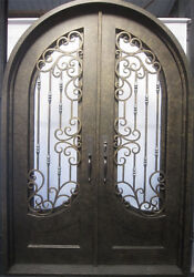 Wrought Iron Double Front Door68'x100''with High-end LockH006 [In Stock]
