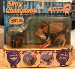 Show Champions By Empire Toys-siberian Husky And Yorkshire Terrier-magic Motion