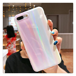 Korean Style Freshness Simple Gradient Laser Soft Case For Iphone X Xs Max 8plus