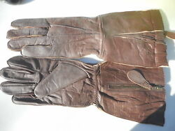 Ww2 Raf Gloves Pattern Flying Gauntlets Size Large New Reproductions