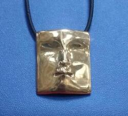 Rare 1960's Modernist Abstraction Creation 14k Solid Face /musk Pendant Signed