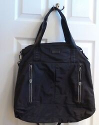 NEW NORDSTROM Black EXTRA Large nylon Hobo Tote DUFFEL Purse Bag CROSSBODY