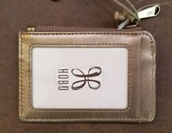 NWT New HOBO INTERNATIONAL Kai Credit Card Wallet with key ring Coin Gold