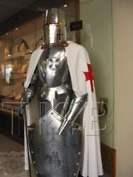 Rare Medieval Knight Templar Suit Of Armor With Sword Combat Full Body Armour