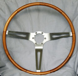 Corvette Sting Ray Teak Wood Steering Wheel - Read For Availability - Updated