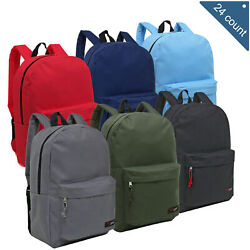 Wholesale Backpacks for Kids Bulk Case of 24 MGgear Assorted Color Book Bags $179.99