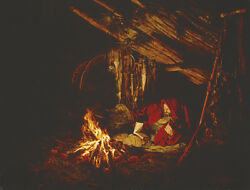 Paul Calle And A Good Book For A Book Campfire Limited Edition Canvas