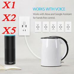 Wifi Smart US Plug Socket 2 AC Outlet 2 USB Output For iOS Andriod App Remote W1