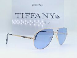 Sunglasses Tiffany Lunettes T63 C1 23K Gold Planted Brille Cartier Vintage
