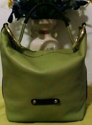 Women's Super Cool Large Lime  Green Leather