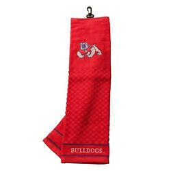 Fresno State Bulldogs Tri Fold Golf Bag Towel Officially Licensed Course Club