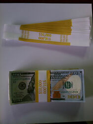 4,500 Self-sealing Currency Bands - 10,000 Denomination - Straps Money 100's