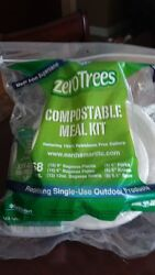 Earthsmart Zero Trees 68 Pc Compostable Tableware Kit Plates Bowls Cutlery