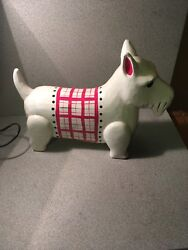 """Scottish Terrier Figurine Hand Painted Collectible Statue 13"""" Long"""