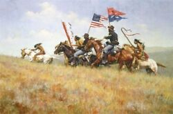 Howard Terpning Flags On The Frontier Ltd Canvas Native Indian Horse