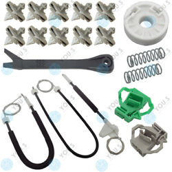 For Vw Polo Classic Electric Window Regulator Repair Kit Cable Front Left