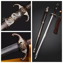 High Quality Clay Tempered Folded Steel Chinese Sword