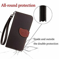 Huawei Y5 II CaseMAGQI Premium PU Leather Wallet Slim Retro Two-Color Design Co