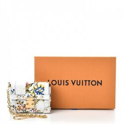 Louis Vuitton Epi Romantic Blossom Essential Trunk White Leather Wristlet