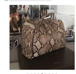 Excellent used condition Gucci 'Jackie' Python Top Handle Bag $5500.00