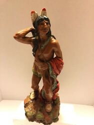 Vintage Indian Bow And Arrows 14.5 Statue 1970 Figure Universal Statuary