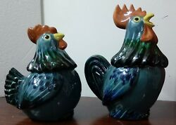 Metlox Poppy Trail Rooster And Hen Cookie Jars Extremely Rare