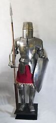 Medieval Full Size 6 Feet Knights Templar Suit Of Armour Roman Armor Statue Gift