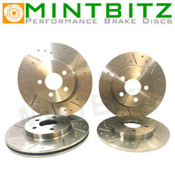 Vw Passat 3.6 R36 4motion Saloon/estate 08-11 Grooved Front And Rear Brake Discs