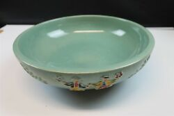 Red Wing Art Pottery Bowl Painted Made In Usa Unique Antique Mn