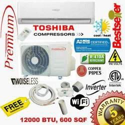 12000 Btu Air Conditioner Mini Split 19 Seer Inverter Ac Ductless Heat Pump 110v