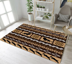 Abstract Pattern Animals Area Rugs Floor Mat Bedroom Living Room Carpet Lions
