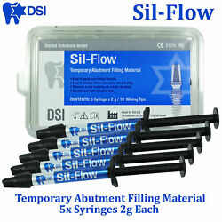 Dental Dsi Sil Flow Temporary Filling Material For Implant Abutments 5x2g